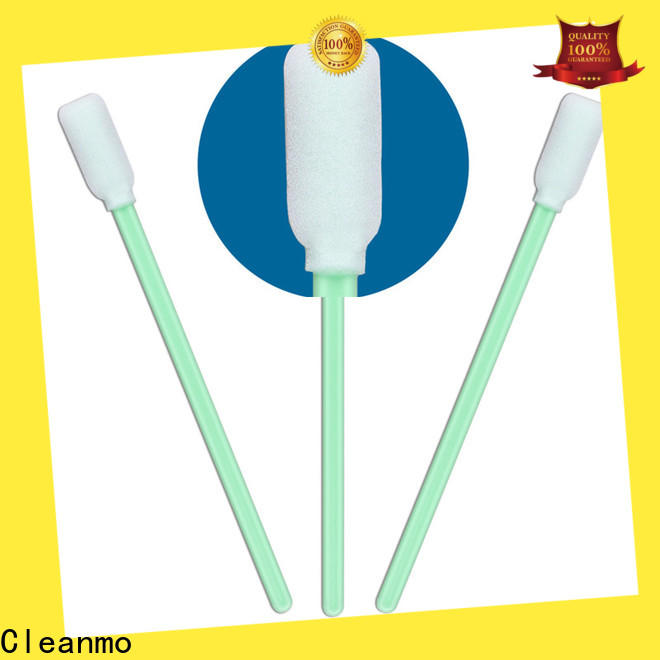 Cleanmo ESD-safe Polypropylene handle giant cotton swab supplier for excess materials cleaning