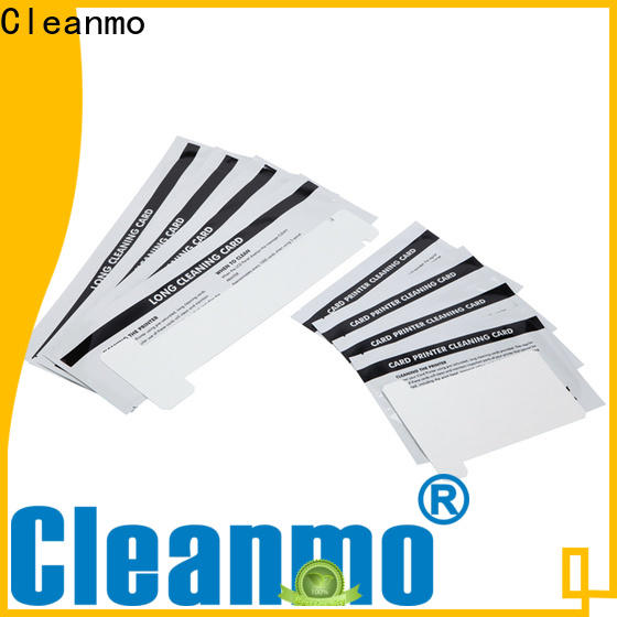 Cleanmo disposable zebra cleaning card supplier for Zebra P120i printer