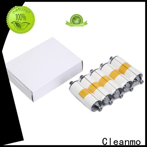 Cleanmo Aluminum foil packing zebra cleaning card manufacturer for Zebra P120i printer