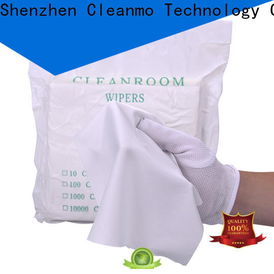 Cleanmo microfiber yarns microfiber lens wipes wholesale for chamber cleaning