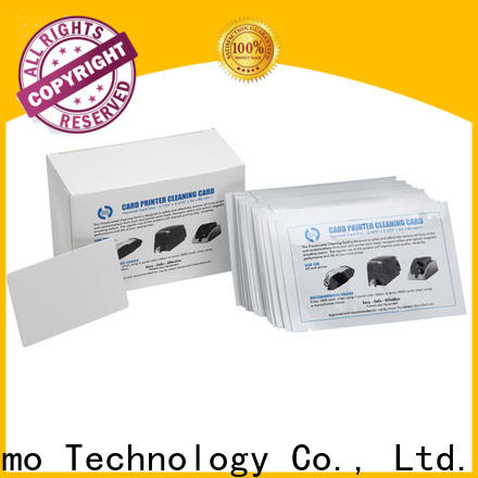 Cleanmo spunlace hotel door lock cleaning card wholesale for ATM machines
