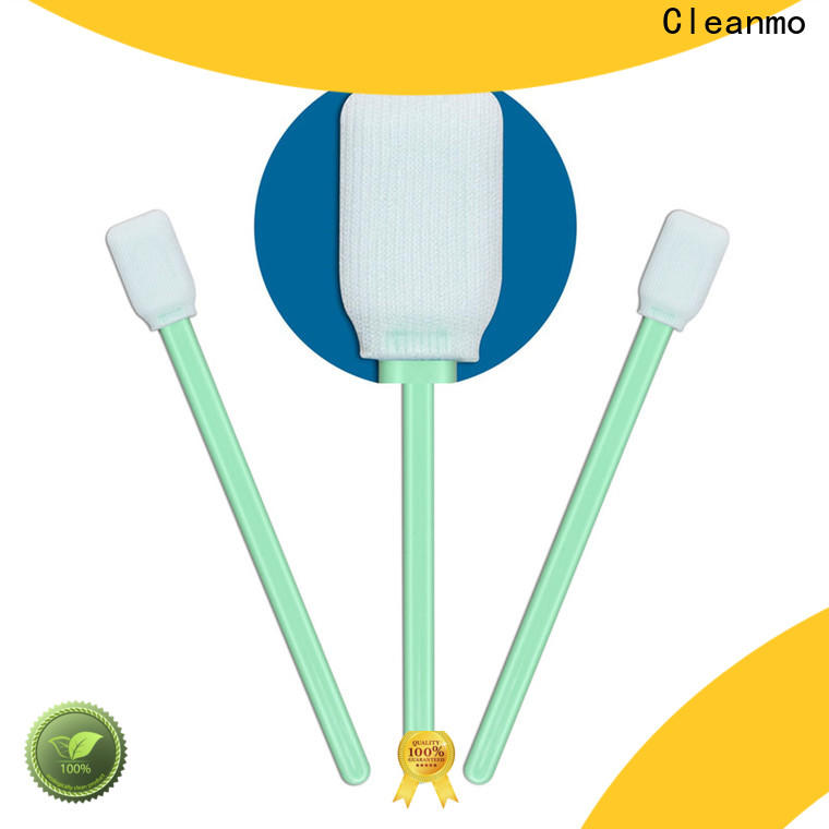 Cleanmo polypropylene handle polyester cleanroom swabs supplier for printers