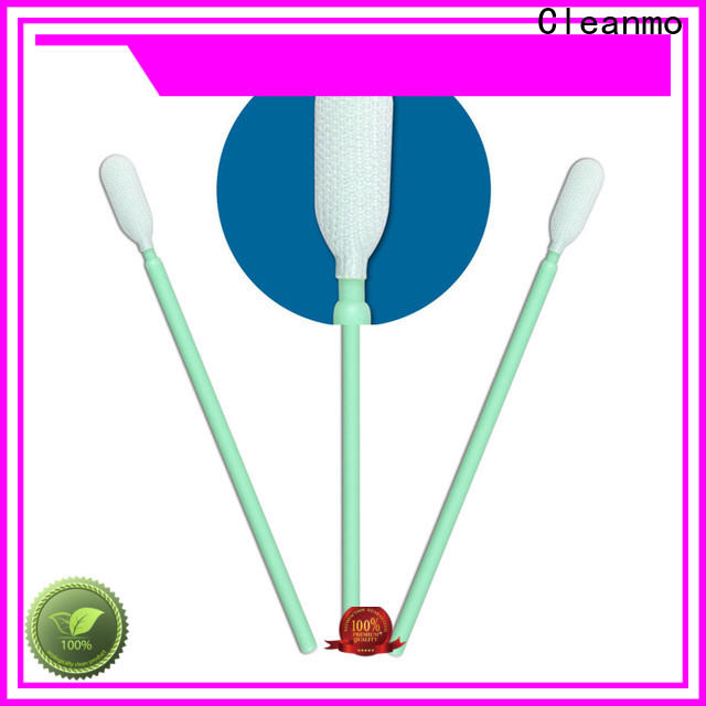 Cleanmo excellent chemical resistance long swabs factory for optical sensors