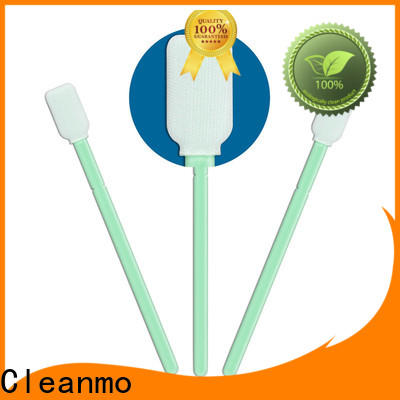 Cleanmo double-layer knitted polyester fiber optic cleaning swabs manufacturer for optical sensors