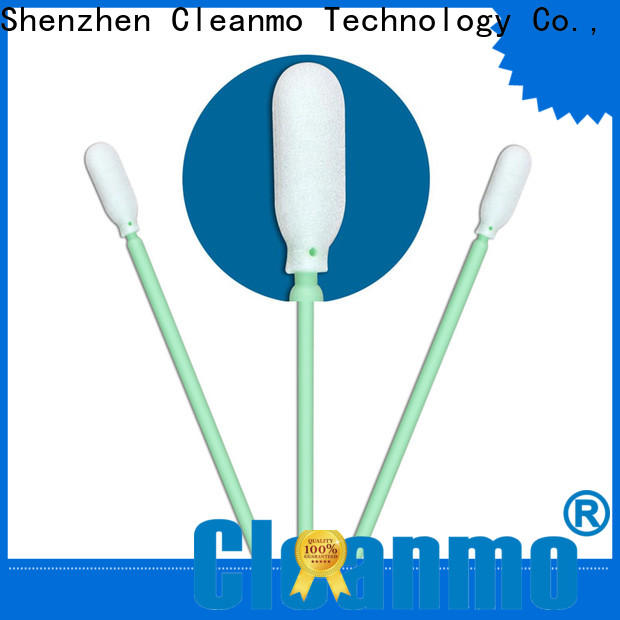 Cleanmo small ropund head puritan swabs manufacturer for Micro-mechanical cleaning