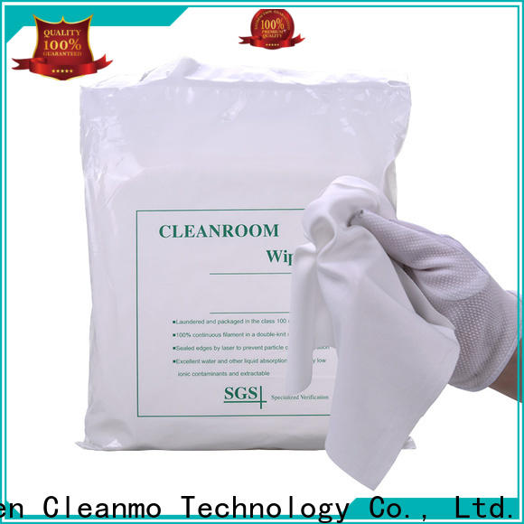 Cleanmo high quality 100% polyester cleanroom wipes supplier for medical device products