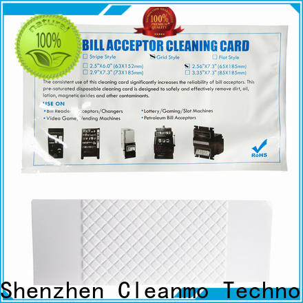 cost effective dollar bill acceptor cleaning cards pvc supplier for video game machines