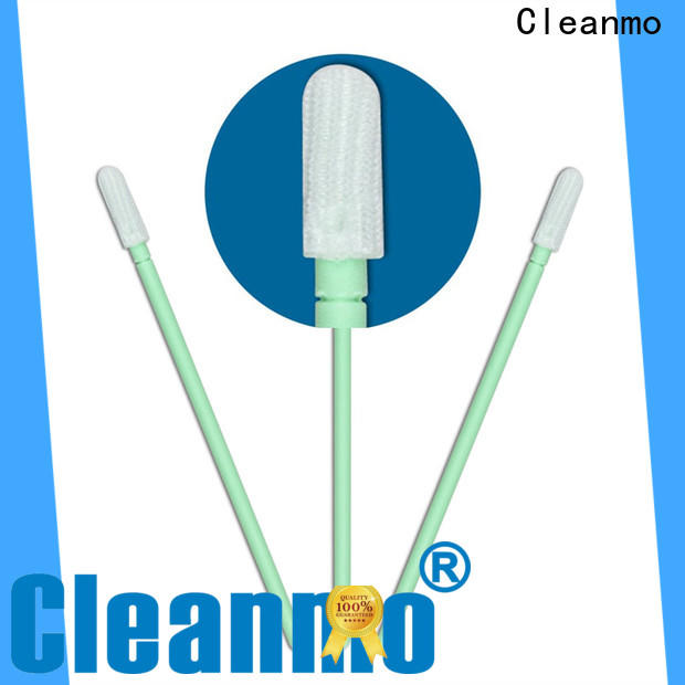 Cleanmo high quality knitted polyester swabs factory for printers