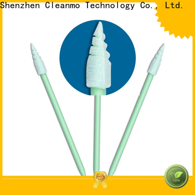 Cleanmo ESD-safe Polypropylene handle mouth cleaning swabs factory price for excess materials cleaning