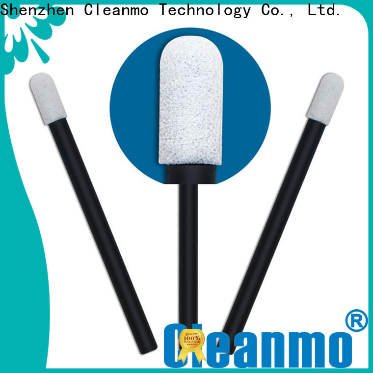 high quality foam mouth swabs small ropund head supplier for excess materials cleaning
