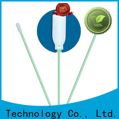 Cleanmo precision tip head cotton swab wood factory price for Micro-mechanical cleaning