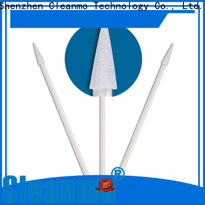 Cleanmo ESD-safe long handle cotton swabs manufacturer for excess materials cleaning