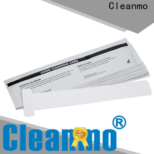 Cleanmo blending spunlace zebra cleaning card factory for ID card printers