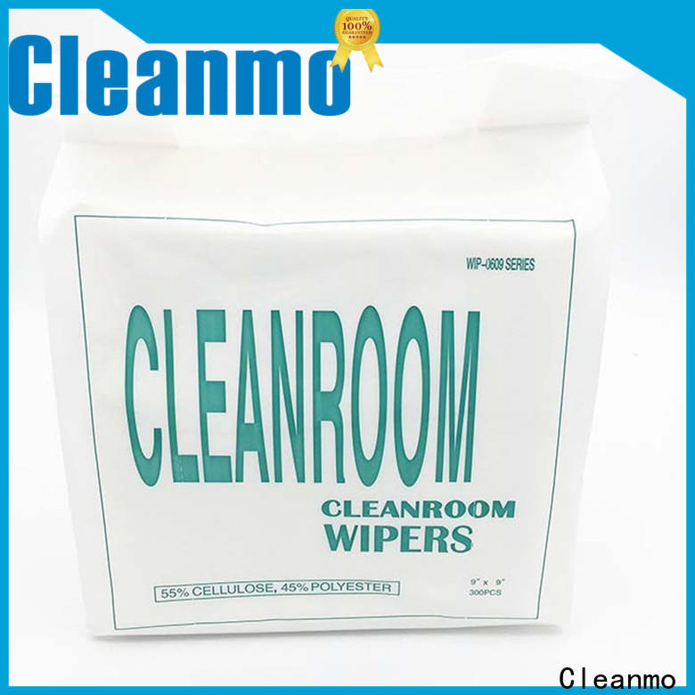 Cleanmo 45% polyester clean room wipes manufacturers manufacturer for stainless steel surface
