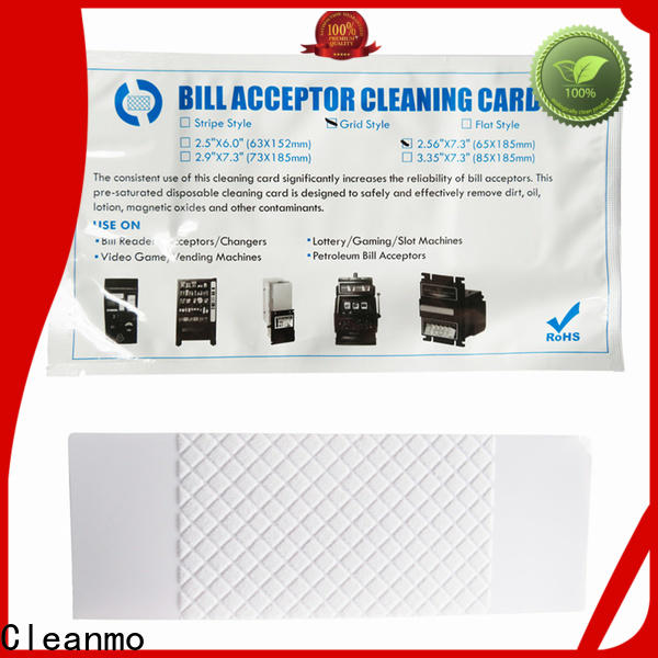Cleanmo pvc cleaning credit card supplier for dollar bill readers