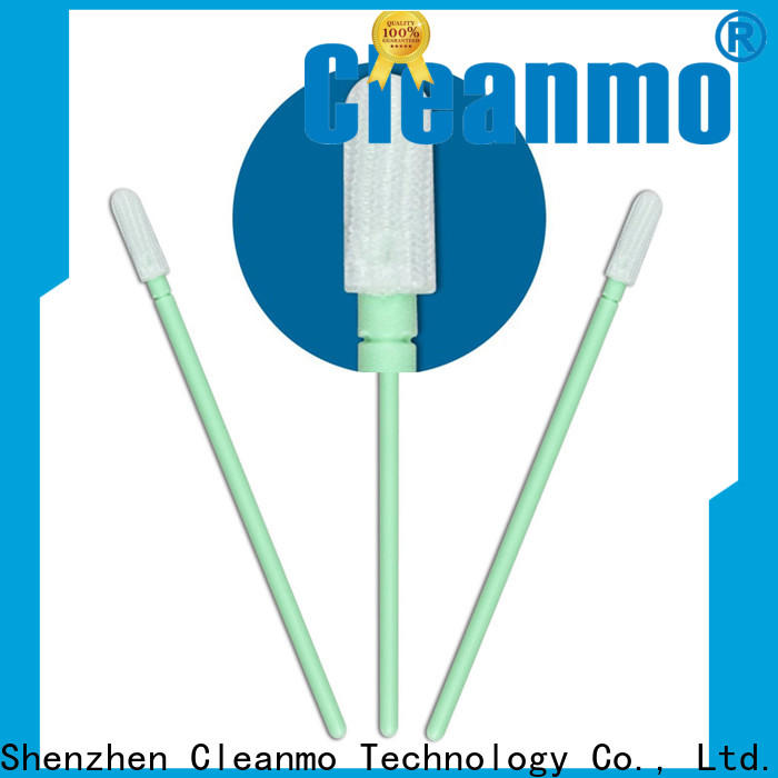 Cleanmo flexible paddle polyester cleanroom swabs factory for optical sensors