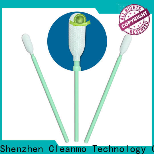 Cleanmo flexible paddle sterile polyester swabs wholesale for optical sensors