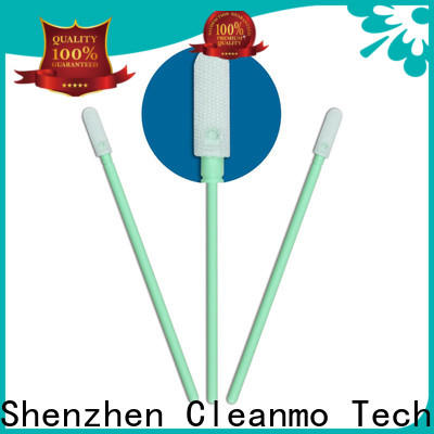 Cleanmo double layers of microfiber fabric clean tips swabs supplier for excess materials cleaning