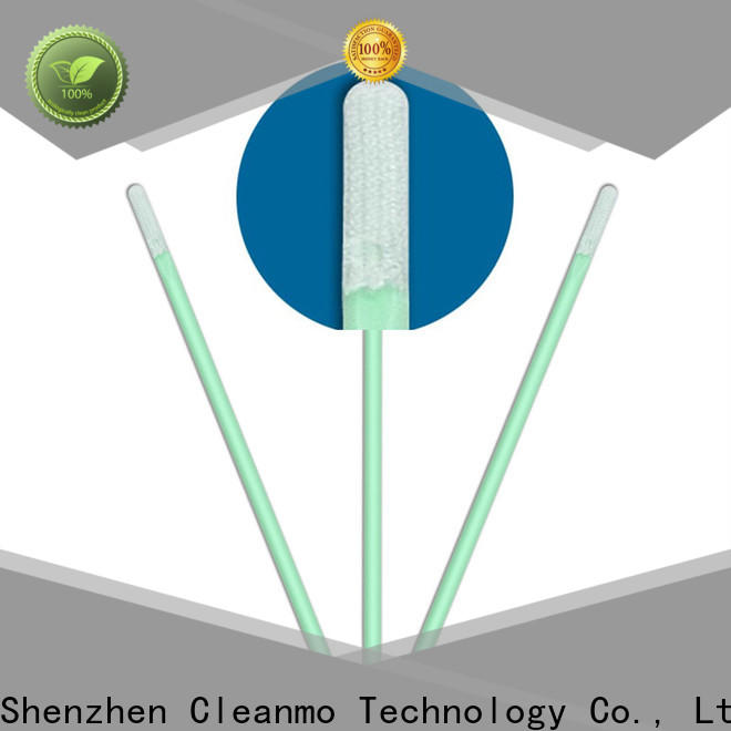 Cleanmo double layers of microfiber fabric Microfiber Industrial Swab Sticks wholesale for excess materials cleaning