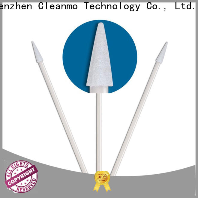Cleanmo green handle large cotton swabs factory price for Micro-mechanical cleaning