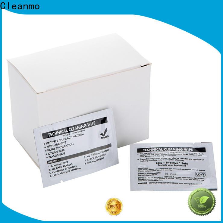 Cleanmo Electronic-grade IPA Snap Swab evolis cleaning kits wholesale for Evolis printer