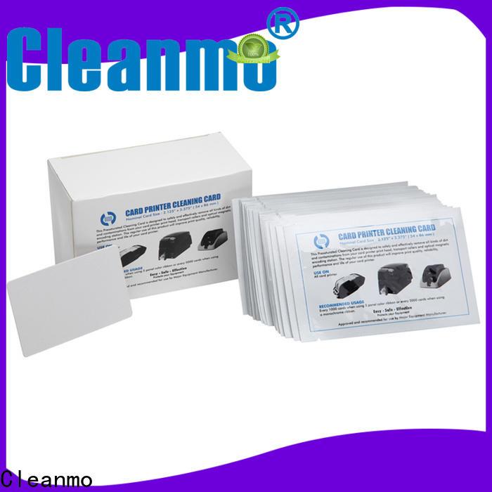 Cleanmo easy handling hotel door lock cleaning card wholesale for ID Card Printers