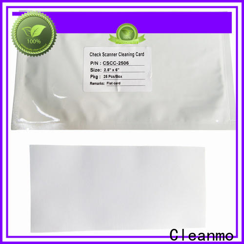 inexpensive check reader cleaning cards manufacturer for scanner cleaning