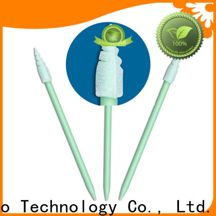 Cleanmo green handle dental swabs manufacturer for Micro-mechanical cleaning