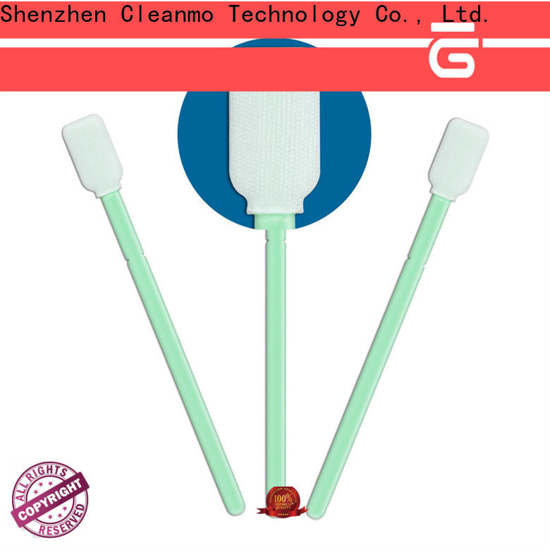 high quality Cleanroom dacron swabs excellent chemical resistance supplier for printers