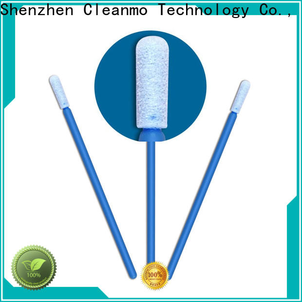 high quality long stem cotton swabs ESD-safe Polypropylene handle factory price for Micro-mechanical cleaning