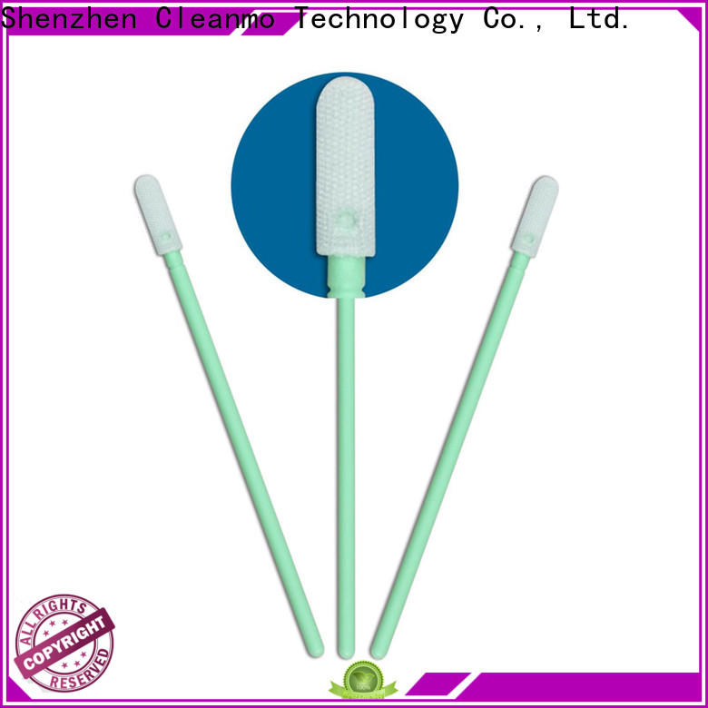 Cleanmo Polypropylene handle camera sensor swabs supplier for Micro-mechanical cleaning