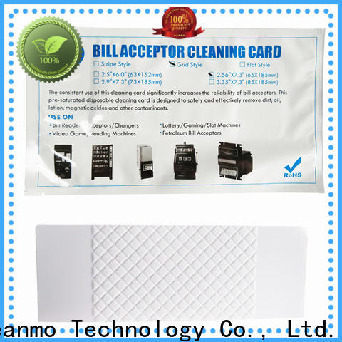 safe bill acceptor cleaning card flocked fabric wholesale for readers