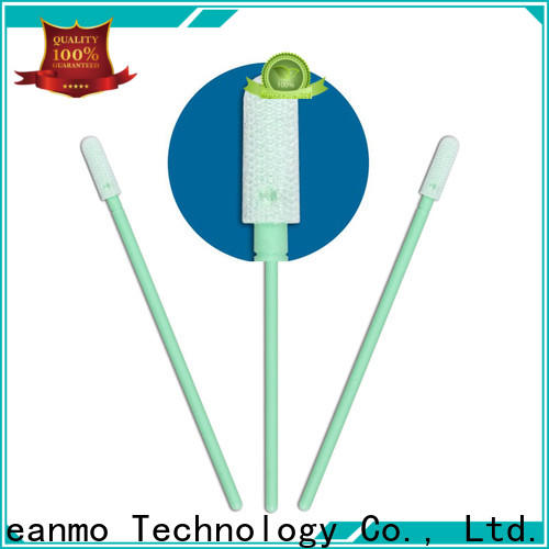 Cleanmo double-layer knitted polyester esd swabs supplier for microscopes