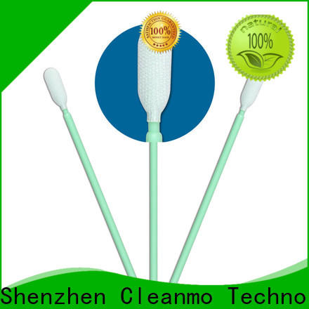 Cleanmo double-layer knitted polyester fiber optic cleaning swabs wholesale for optical sensors