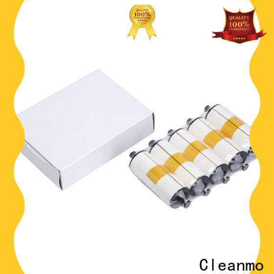 Cleanmo blending spunlace zebra printer cleaning cards factory for ID card printers