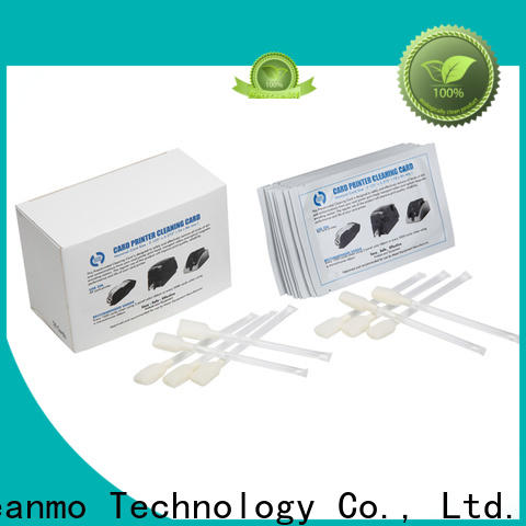 Cleanmo non woven zebra printer cleaning cards factory for cleaning dirt