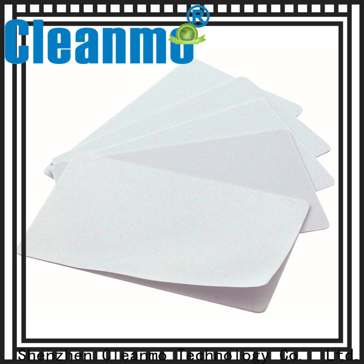 Cleanmo High and LowTack Double Coated Tape printer cleaning supplies factory price for Evolis printer