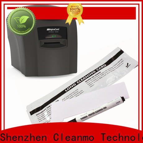 Cleanmo PVC AlphaCard Short T Cleaning Cards wholesale for AlphaCard PRO 100 Printer