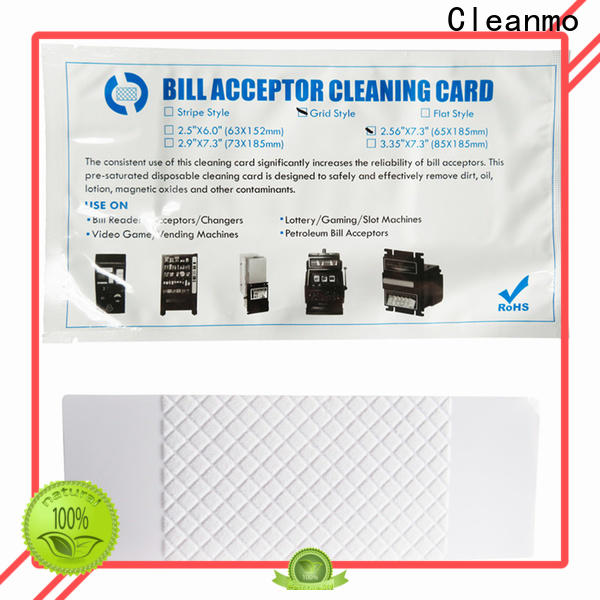 Cleanmo durable atm cleaning cards supplier for currency counters