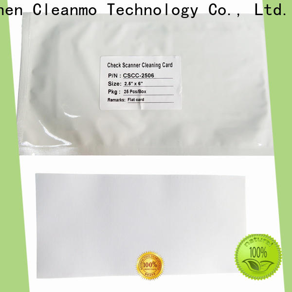 Cleanmo non woven fabric check reader cleaning card manufacturer for scanner cleaning