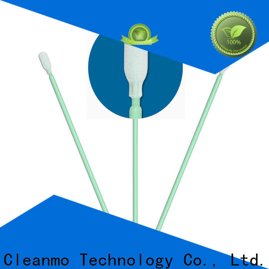 Cleanmo compatible polyester cleanroom swabs supplier for general purpose cleaning