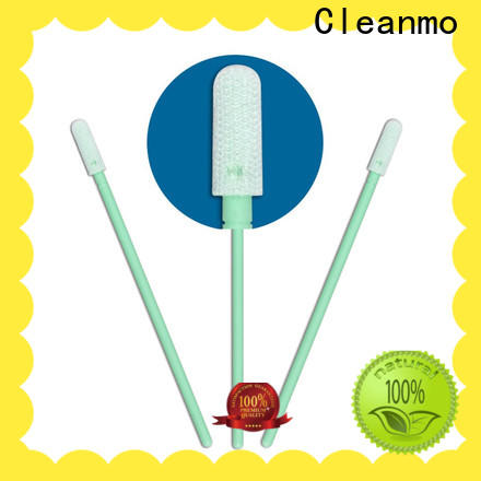 Cleanmo flexible paddle Cleanroom dacron swabs factory for general purpose cleaning