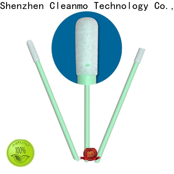 Cleanmo small ropund head alcohol swabsticks wholesale for excess materials cleaning