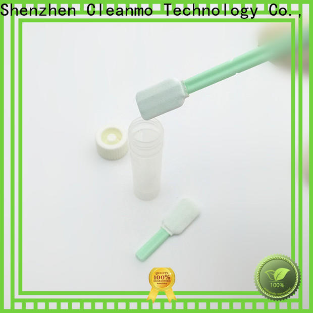 Cleanmo 100% polyester sampling collection swabs factory price for test residues of previously manufactured products