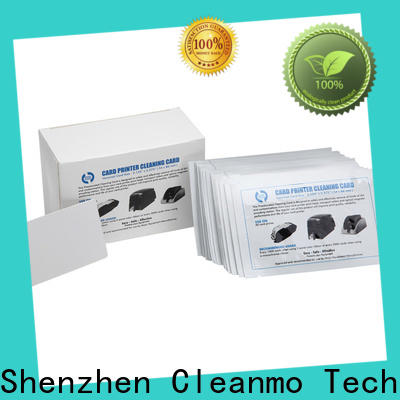 Cleanmo pvc credit card cleaner wholesale for POS Terminal