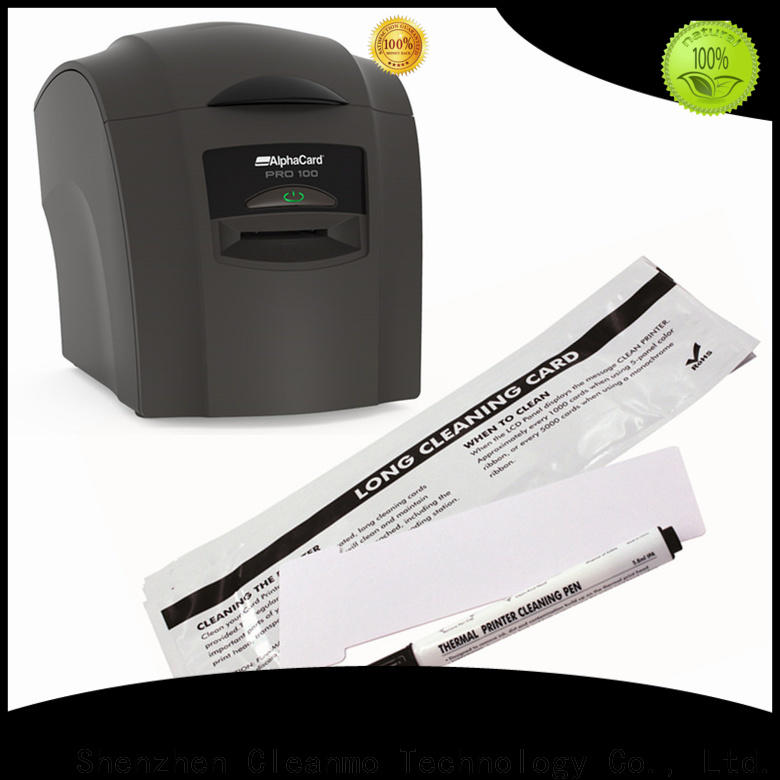 Cleanmo Electronic-grade IPA AlphaCard Short T Cleaning Cards wholesale for AlphaCard PRO 100 Printer