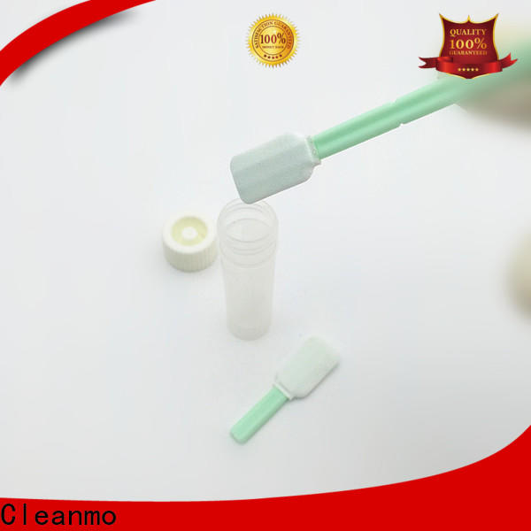 Cleanmo 100% polyester sterile swab stick supplier for the analysis of rinse water samples