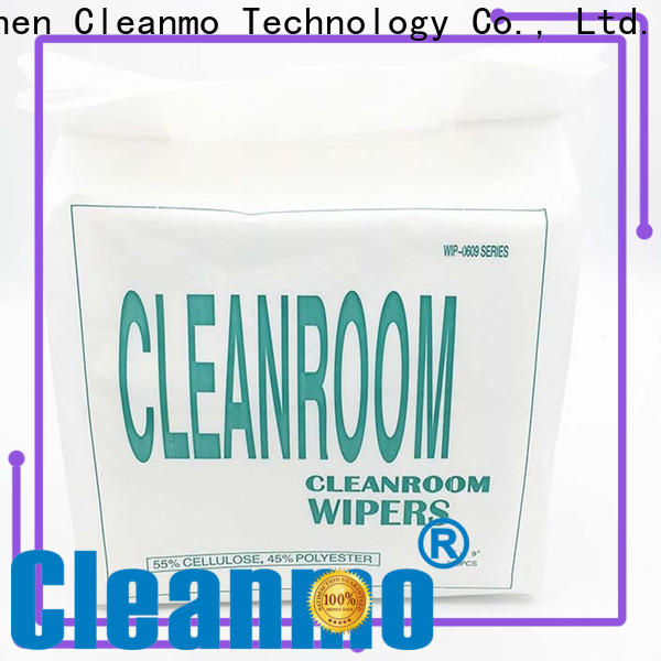 Cleanmo 55% cellulose industrial cleaning wipes manufacturer for stainless steel surface