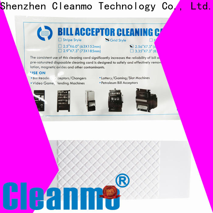 disposable alcohol cleaning cards pvc manufacturer for currency counters