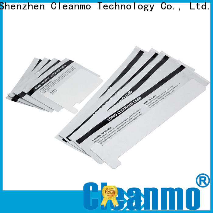 Cleanmo cost effective zebra printer cleaning cards manufacturer for cleaning dirt